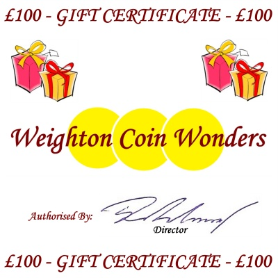 Gift Certificate - £100.00