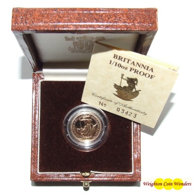 1 x Gold Proof 1/10th oz Britannia - Date Our Choice
