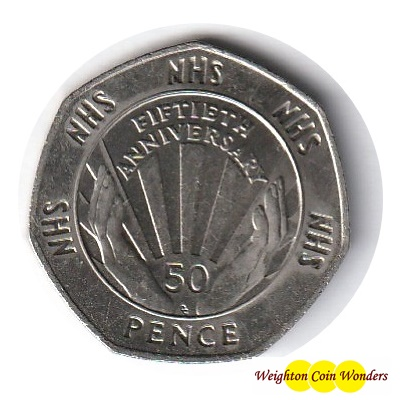 1998 50p - 50th Anniversary of the NHS