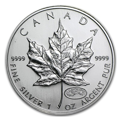 1999 - 2000 1oz Silver Maple - Firework Privy Mark (Sealed)