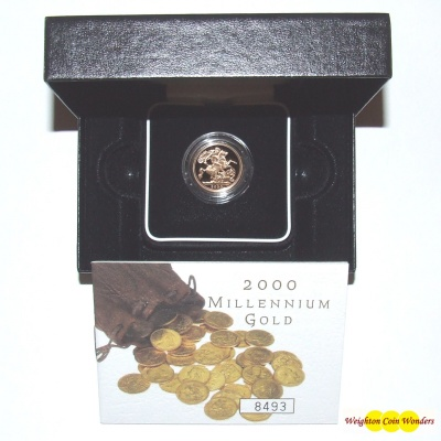2000 Gold Proof Sovereign - Millenniun Year