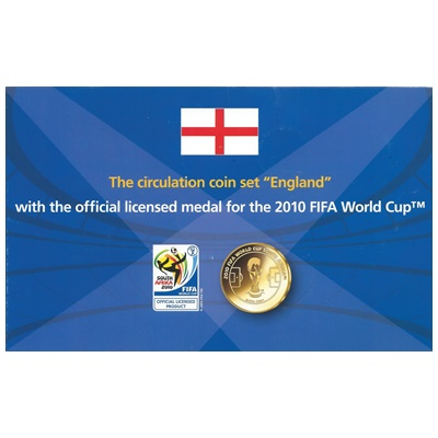 2008 Circulation Coin Set with FIFA World Cup Medal 2010
