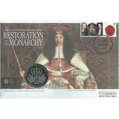 2010 £5 BU - 350th Anniversary - Restoration of the Monarchy