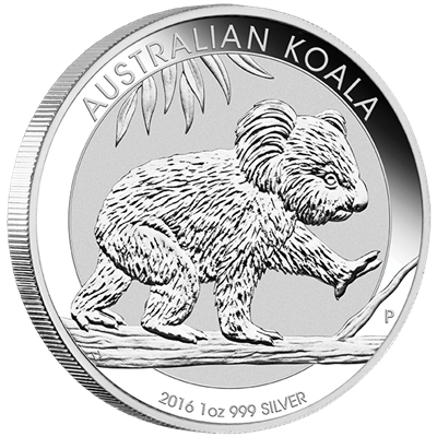 10 x 2016 1oz Silver KOALA - NOW IN STOCK