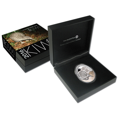 2016 Kiwi Silver Proof Coin - 'KIWI EGG SHAPE'