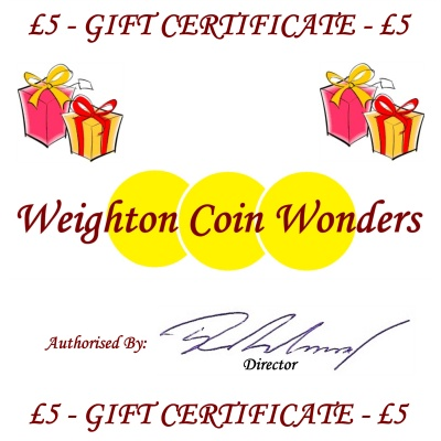 Gift Certificate - £5.00