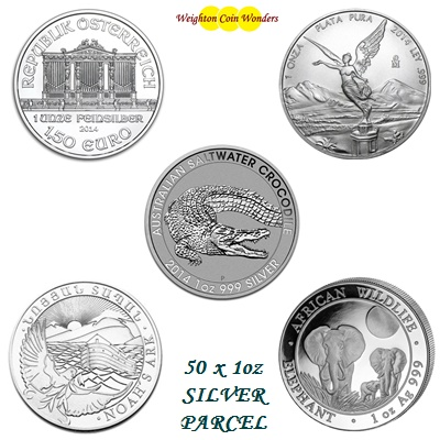 50 oz Silver Coin Investment Parcel No 4