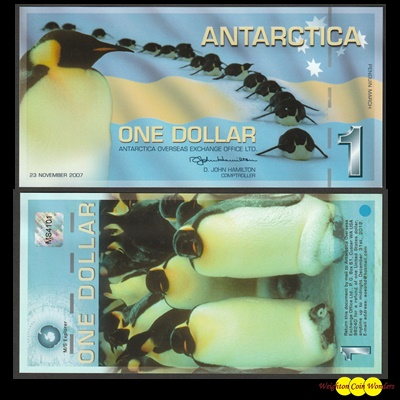 2007 Antarctica $1 – Penguin March