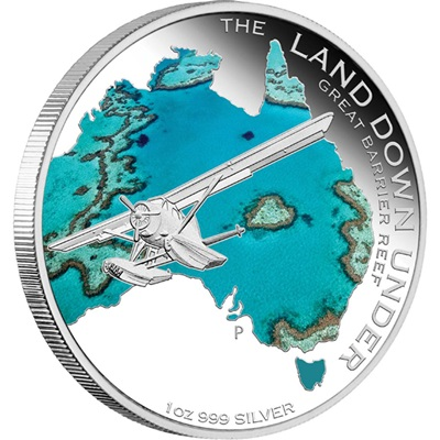 The Land Down Under – 2014 1oz Silver Proof- GREAT BARRIER REEF
