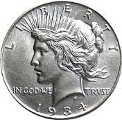 1 x USA Peace Silver Dollars - Date Our Choice