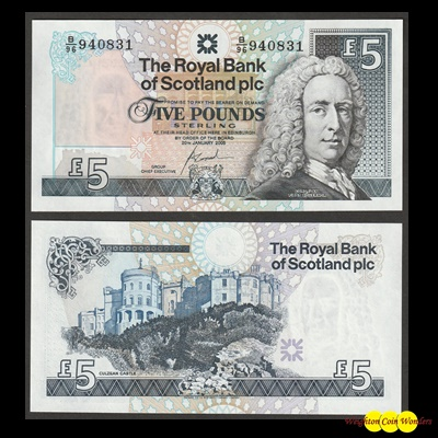 2005 Royal Bank of Scotland Plc £5 (B/96)