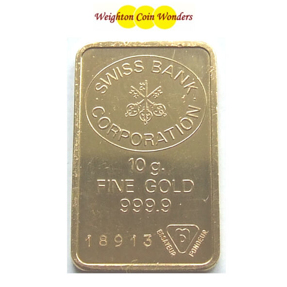 10g GOLD Bar - TYPE AS AVAILABLE