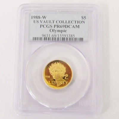 1988-W Gold $5 Commemorative - Olympic PR69 DCAM