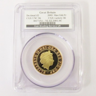 2001 QEII Gold Proof £2 Marconi - CGS UNC 96
