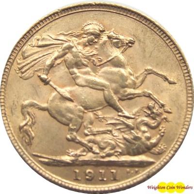 1911 GEORGE V (London) Gold Sovereign