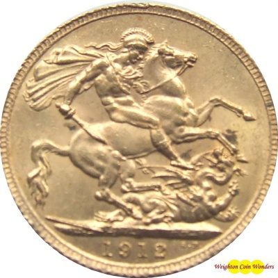 1912 GEORGE V (London) Gold Sovereign