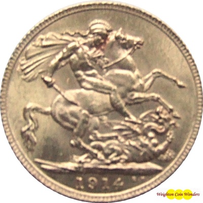 1914 GEORGE V (London) Gold Sovereign