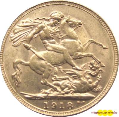 1918 GEORGE V (Perth) Gold Sovereign