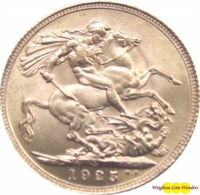 1925 GEORGE V (London) Gold Sovereign