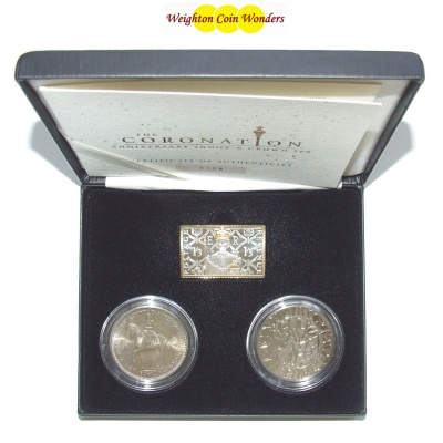 The Coronation Anniversary Ingot & Crown Set