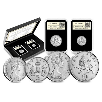 1968 The First Decimalised Coins Anniversary DateStamp™ Set