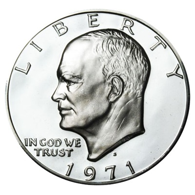 1971 Eisenhower Silver Proof $1 (Capsule)