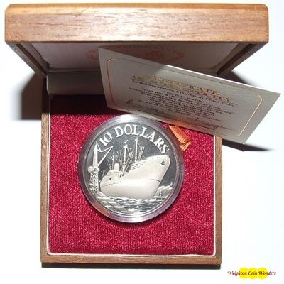 1975 Republic of Singapore $10 Silver Proof Coin