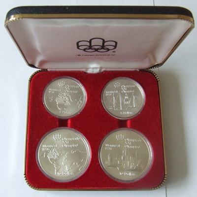1976 Canada Silver BU 4 Coin Set – Olympics Series I