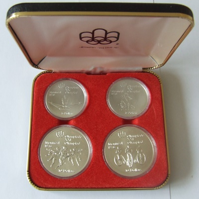 1976 Canada Silver BU 4 Coin Set – Olympics Series