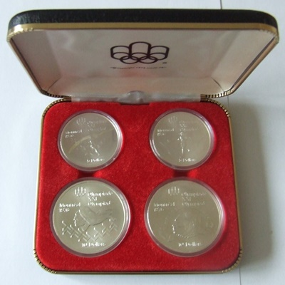 1976 Canada Silver BU 4 Coin Set – Olympics Series IV