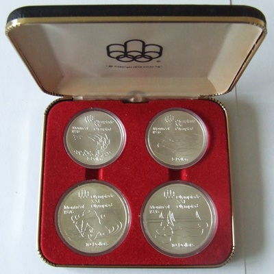 1976 Canada Silver BU 4 Coin Set – Olympics Series V