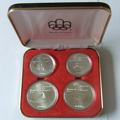 1976 Canada Silver BU 4 Coin Set – Olympics Series VII