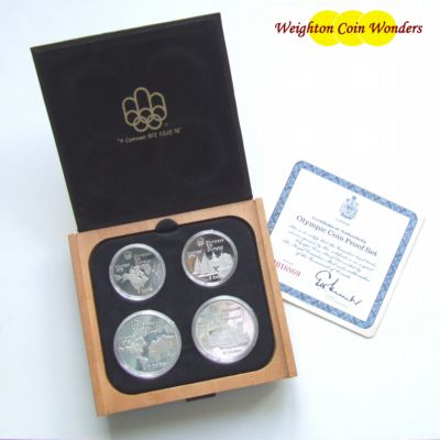 1976 Canada Silver Proof 4 Coin Set – Olympics Series