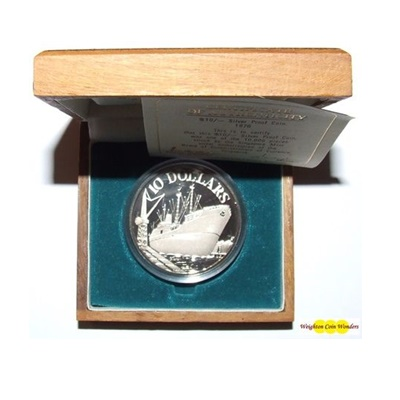 1976 Republic of Singapore $10 Silver Proof Coin