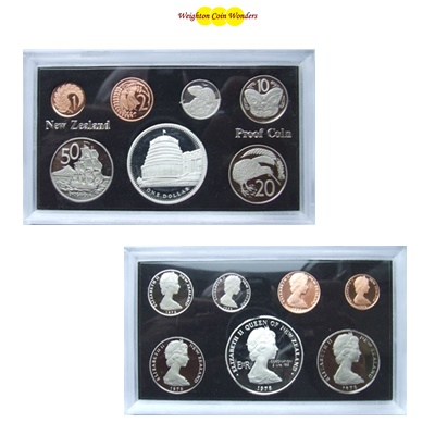 1978 New Zealand Proof Set - Inc Silver $1