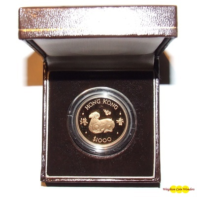 1979 Hong Kong Gold Proof $1000 - Year of the Ram