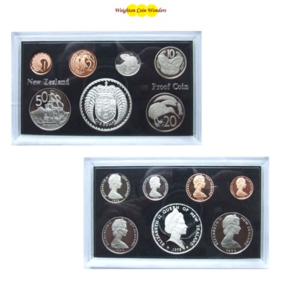1979 New Zealand Proof Set - Inc Silver $1