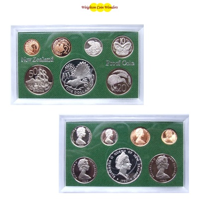 1980 New Zealand Proof Set - Inc Silver $1