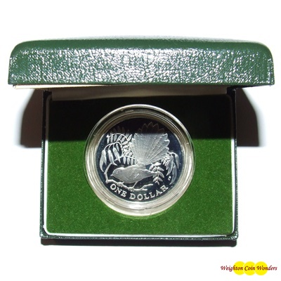 1980 New Zealand Silver Proof $1