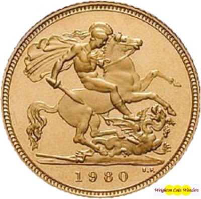 1980 QUEEN ELIZABETH II Gold Sovereign