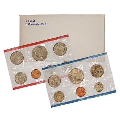 1980 United States Mint Uncirculated Coin Set (P & D)