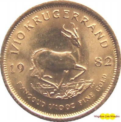 1982 1/10th oz Gold KRUGERRAND