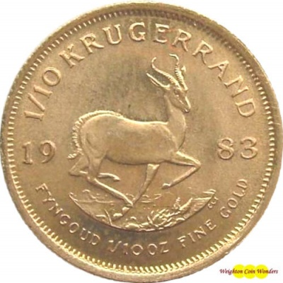 1983 1/10th oz Gold KRUGERRAND