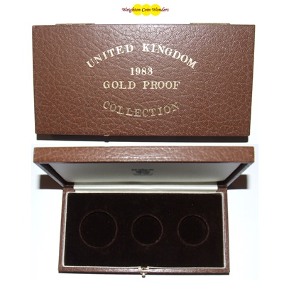 1983 Gold Proof 3 Coin Box (No Coins)