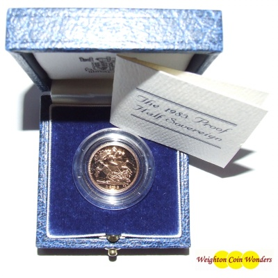 1983 Gold Proof 1/2 Sovereign