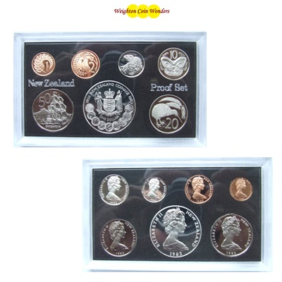 1983 New Zealand Proof Set - Inc Silver $1