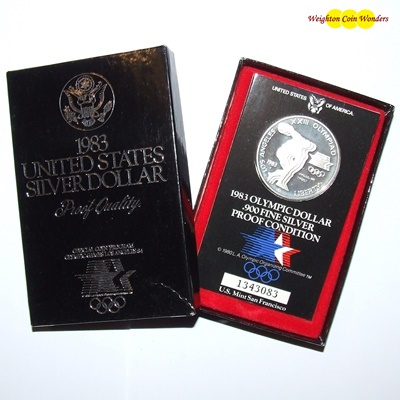 1983 Los Angeles Olympics Silver Proof $1