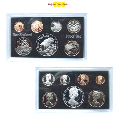 1984 New Zealand Proof Set - Inc Silver $1