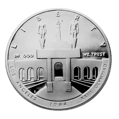 1984 Olympics Silver Proof $1 (Capsule)
