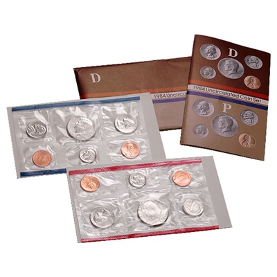 1984 United States Mint Uncirculated Coin Set (P & D)